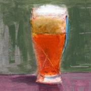 Beer Painting Prints - RCNpaintings.com Print by Chris N Rohrbach