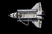 Space Travel Art - Space Shuttle Discovery by Stocktrek Images