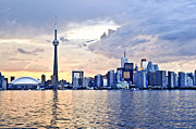 Architecture Metal Prints - Toronto skyline Metal Print by Elena Elisseeva