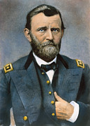 Bow Tie Framed Prints - Ulysses S. Grant (1822-1885) Framed Print by Granger