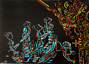 African Ceramics Paintings - Wise Virgins by Gloria Ssali