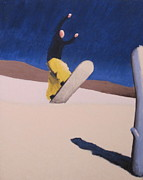Snowboarding Paintings - 180 Sequence 1 by Matthew Stennett