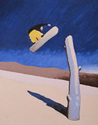 Snowboarding Paintings - 180 Sequence 2 by Matthew Stennett