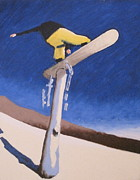 Snowboarding Paintings - 180 Sequence 3 by Matthew Stennett