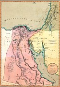 Sinai Prints - 1803 Map Of Egypt, With Part Of Arabia Print by Everett