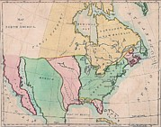 Maps Photos - 1803 Map Of  North American Showing by Everett