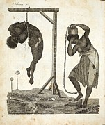 Desmond Prints - 1810 Punishment Of Slaves Engraving Print by Paul D Stewart