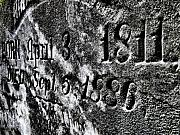 Head Stone Prints - 1811 To 1886 Print by Scott Hovind