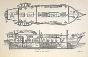 Beagle Photos - 1832 Darwins Ship Hms Beagle Plan by Paul D Stewart
