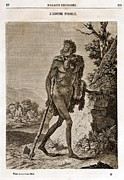 Pre-19th Prints - 1838 Cave Man Engraving lhomme Fossile Print by Paul D Stewart