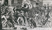 Lithographs Photos - 1844 Riots In Greater Philadelphia by Everett