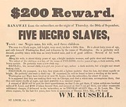 Slavery Photo Prints - 1847 Advertisement For The Return Print by Everett