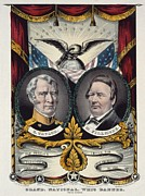 Whigs Prints - 1848 Campaign Banner For Whig Party Print by Everett
