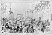 Speakers Prints - 1859 Print Satirizing The 9th Women Print by Everett