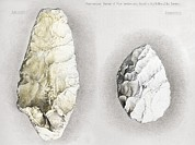 Amiens Metal Prints - 1860 Perthes Handaxes, Abbeville, Amiens Metal Print by Paul D Stewart