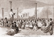 Abolition Metal Prints - 1866 Classroom Of Zion School Metal Print by Everett