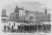Oppression Prints - 1866 Race Riot In New Orleans Was One Print by Everett