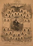 Politicians Photo Posters - 1868 Commemorative Photo Collage Poster by Everett