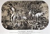 1869 Central Park Dinosaurs Hawkins Full Print by Paul D Stewart