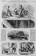 Slaves Framed Prints - 1869 Illustration Show Ex-slaves, Now Framed Print by Everett