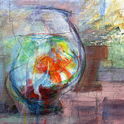 Fish Bowl Prints - RCNpaintings.com Print by Chris N Rohrbach