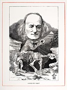 Comparative Anatomist Posters - 1871 Richard Owen On Megatherium Fossil Poster by Paul D Stewart