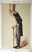 Vanity Fair Posters - 1873 Richard Owen old Bones Vanity Fair Poster by Paul D Stewart