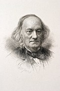 Comparative Anatomist Posters - 1880 Sir Richard Owen Engraved Portrait Poster by Paul D Stewart