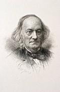 1880 Sir Richard Owen Engraved Portrait Print by Paul D Stewart