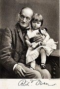 Archetype Art - 1880s Sir Richard Owen And Grandaughter by Paul D Stewart