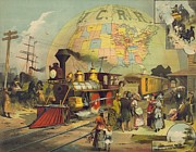 Passenger Liners Prints - 1882 Poster For The Illinois Central Print by Everett
