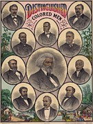 Douglass Photos - 1883 Print Commemorating by Everett