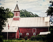 Weathervane Photo Prints - 1886 Red Barn Print by Lisa Russo