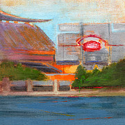 Three Rivers Stadium Prints - RCNpaintings.com Print by Chris N Rohrbach