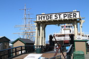 Hyde Street Posters - 1890 Steam Ferryboat Eureka At The Hyde Street Pier in San Francisco California . 7D14119 Poster by Wingsdomain Art and Photography