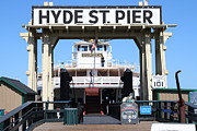 Hyde Street Pier Prints - 1890 Steam Ferryboat Eureka At The Hyde Street Pier in San Francisco California . 7D15115 Print by Wingsdomain Art and Photography
