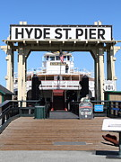 Hyde Street Pier Prints - 1890 Steam Ferryboat Eureka At The Hyde Street Pier in San Francisco California . 7D15117 Print by Wingsdomain Art and Photography