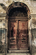 Wooden Building Prints - 1891 Door Cyprus Print by Stylianos Kleanthous