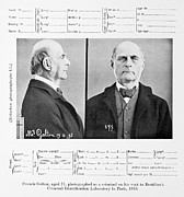 Criminal Framed Prints - 1893 Francis Galton Criminal Photograph Framed Print by Paul D Stewart
