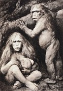 Missing Link Posters - 1894 Haeckel Pithecanthropus Ape Man Crop Poster by Paul D Stewart