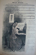Steinlen Drawings - 1894 Original French Art Nouveau Gil Blas Cover Chanson Pastiche  by Theophile Steinlen