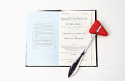 Hammer Art - 1899 Mercks Manual And Medical Equipment by Photo Researchers, Inc.
