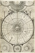 Diagrams Posters - 18th Century Astronomical Diagrams Poster by Library Of Congress