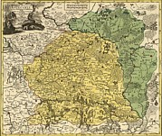 Lithuania Framed Prints - 18th Century Map Of Lithuania Framed Print by Everett