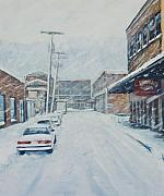 Pittsburgh Painting Originals - 18th from Smallman by Erik Schutzman