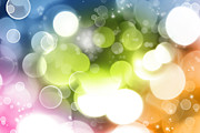 Bokeh Prints - Abstract background Print by Les Cunliffe