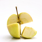 Cut In Half Photos - Apple by Bernard Jaubert