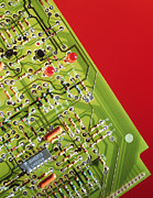 Circuitry Photos - Circuit Board by Tek Image