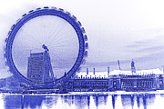 County Hall Prints - London Eye Art Print by David Pyatt