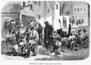Crowd Scene Art - Paris Commune, 1871 by Granger